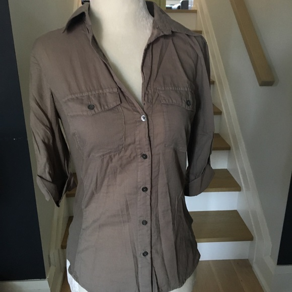 James Perse Tops - James Perse Button Down 3/4 Sleeve